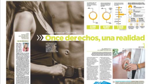 """Portada de la publicación """"Hablar de sexo en Colombia: Once derechos, una realidad"""""""